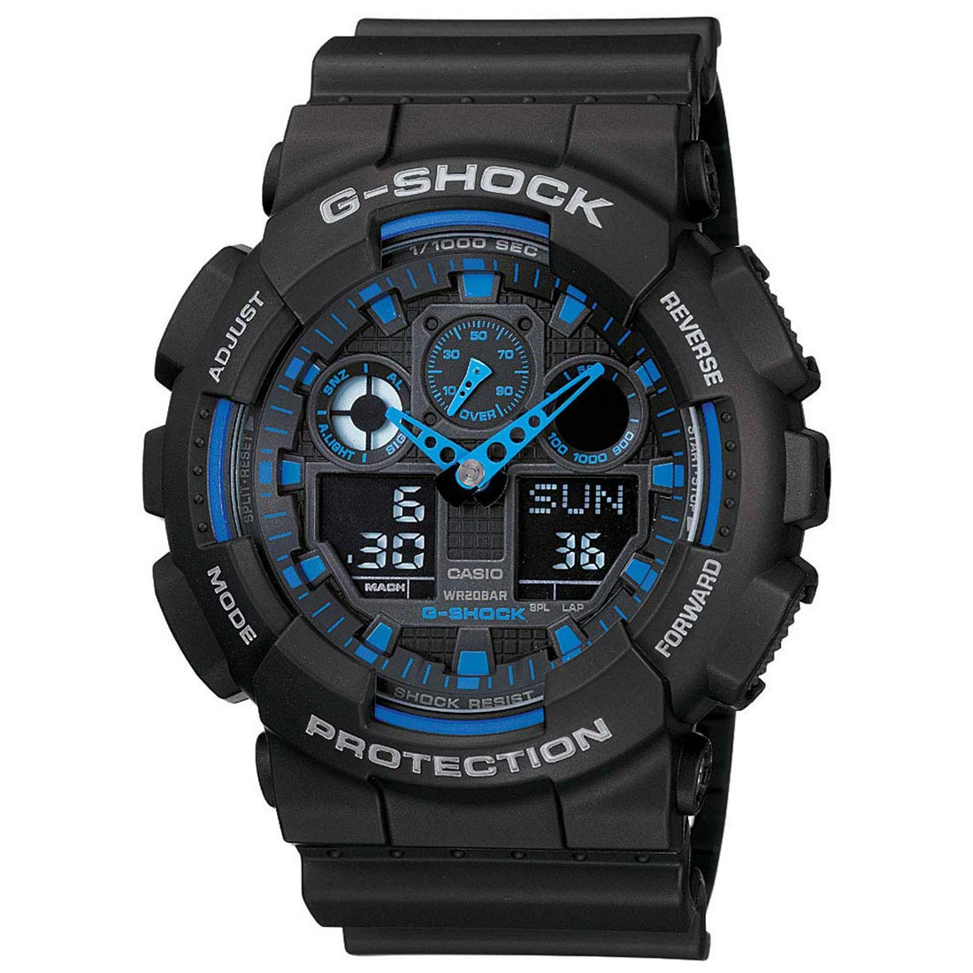 Casio G Shock Analog Digital Blue Dial Mens Watch GA 100 1A2DR G271