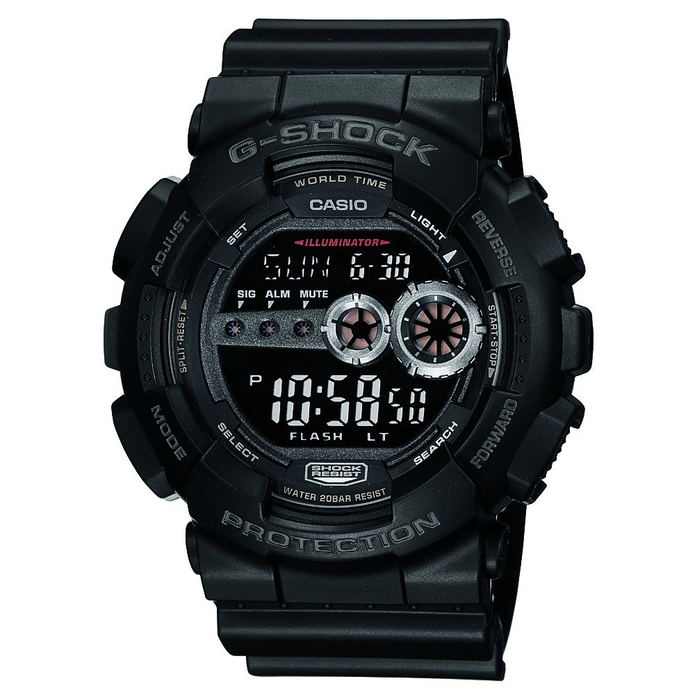 Casio G Shock Digital Black Dial Mens Watch GD 100 1BDR G310