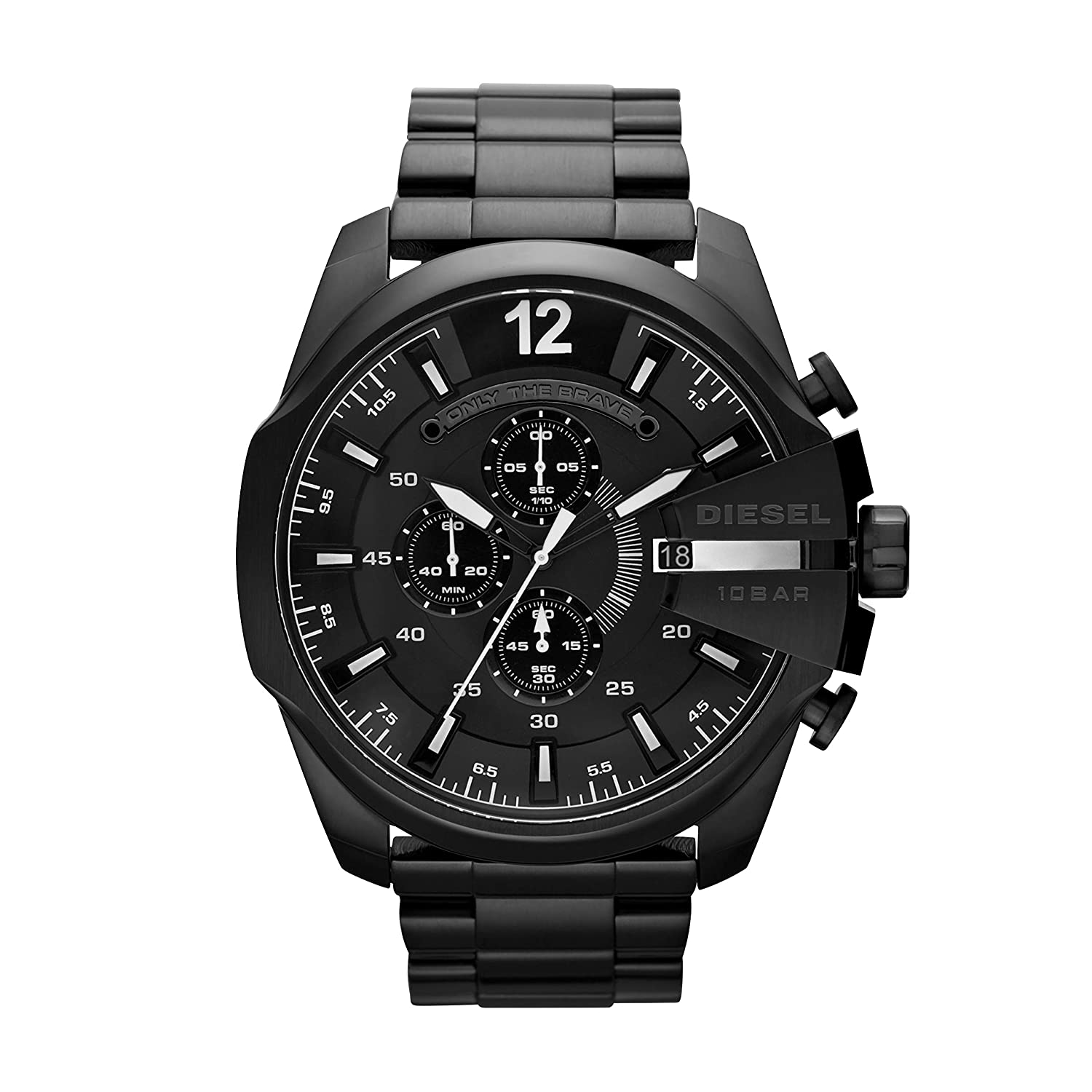 Diesel Mega Chief Analog Black Dial Mens Watch DZ4283