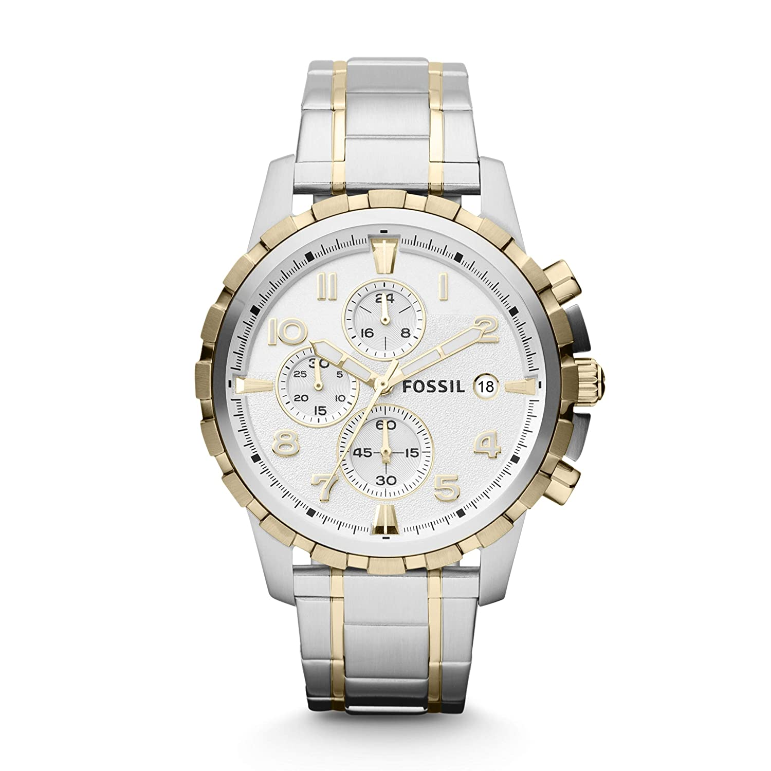 Fossil Analog White Dial Mens Watch FS4795