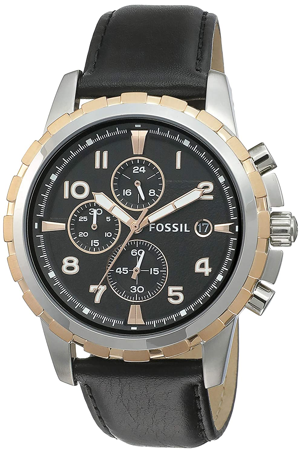Fossil Chronograph Black Dial Mens Watch FS4545