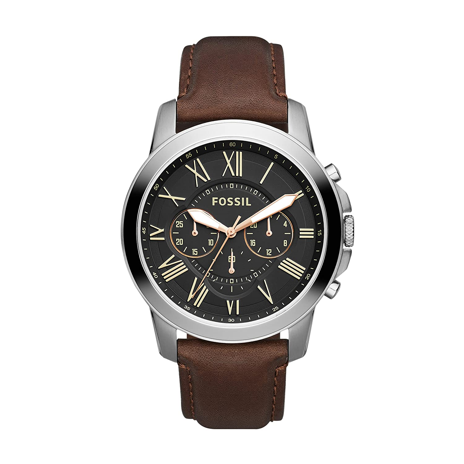 Fossil Grant Chronograph Black Dial Mens Watch FS4813