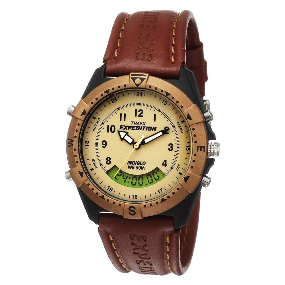 Timex Expedition Analog Digital Beige Dial Mens Watch MF13