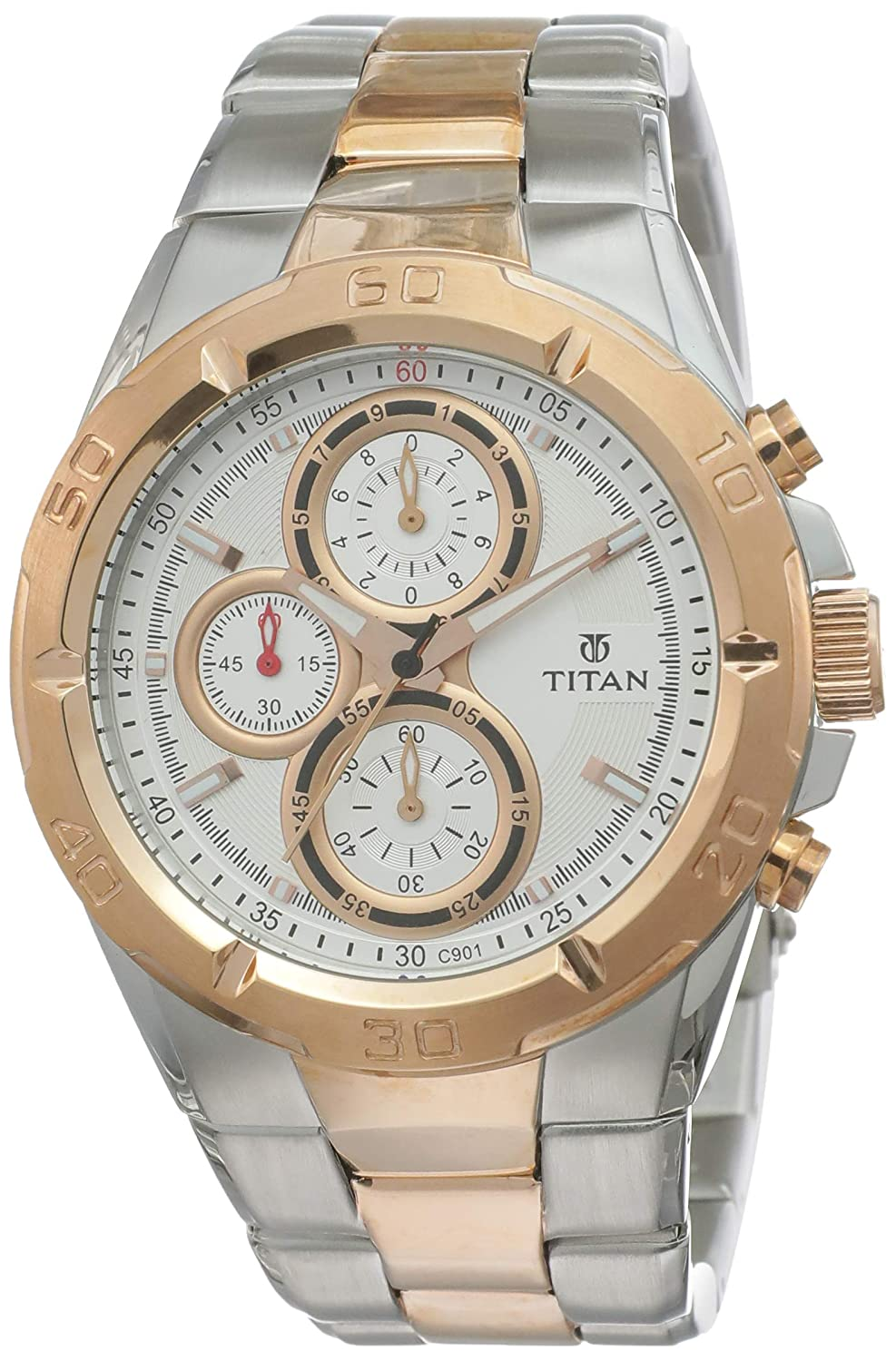 Titan Octane Chronograph Grey Dial Mens Watch NM9308KM01